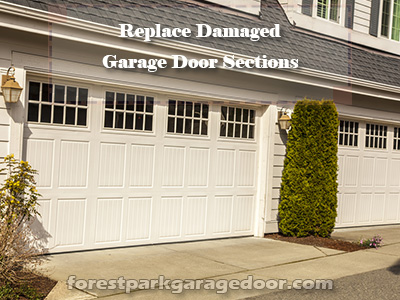 Forest-Park-Pulley-Replace-Damaged-Garage-Door-Sections
