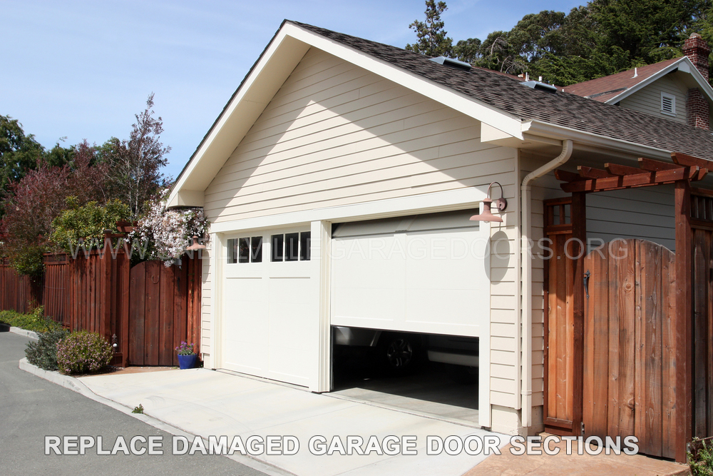 Snellville-Replace-Damaged-Garage-Door-Sections
